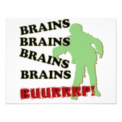 ¡Burp de los cerebros de los cerebros de los cereb Anuncio Personalizado