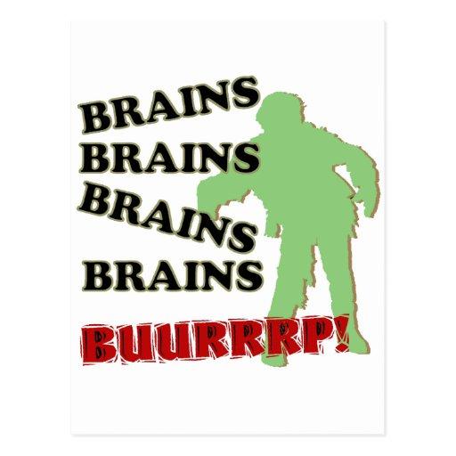 ¡Burp de los cerebros de los cerebros de los cereb Postales