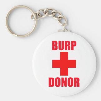 Burp Donor Basic Round Button Keychain
