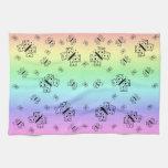 Burp en colores pastel del bebé de las mariposas toalla