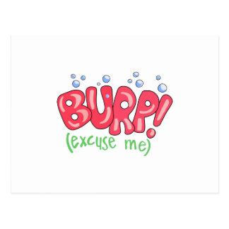 Burp!(Excuse Me) Postcard