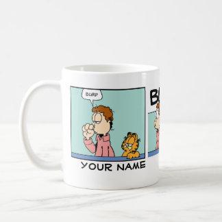 """Burp"" Garfield Comic Strip Classic White Coffee Mug"