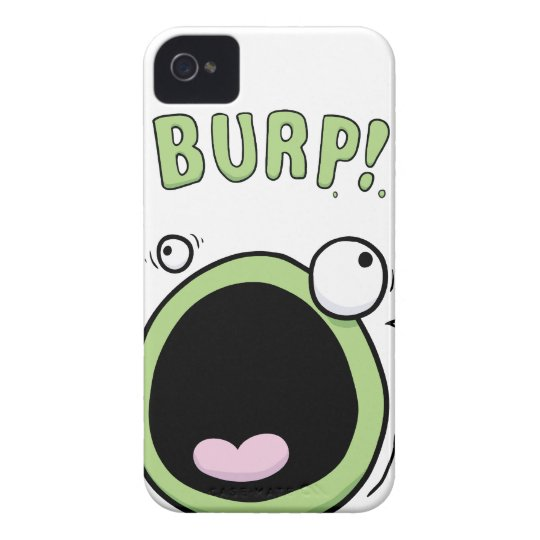 Burp Monster Funny iPhone 4 Cover