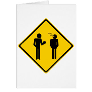 Burp Road Sign Card