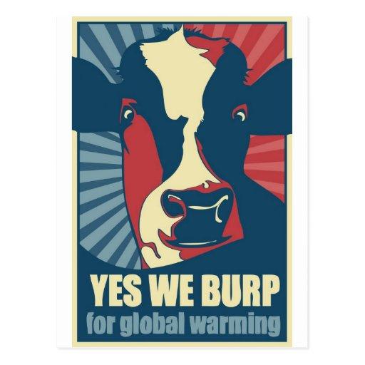 burp sí para el calentamiento del planeta postales