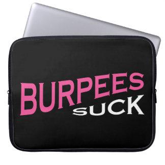 Burpees chupa - la inspiración divertida funda computadora