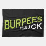 Burpees chupa - la inspiración divertida toallas de cocina