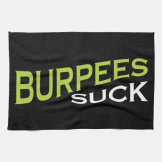 Burpees chupa - la inspiración divertida toalla de cocina