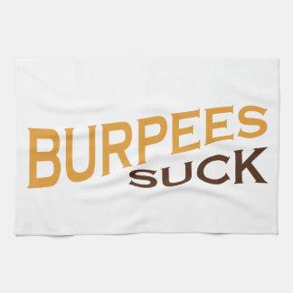 Burpees chupa - la inspiración divertida toallas