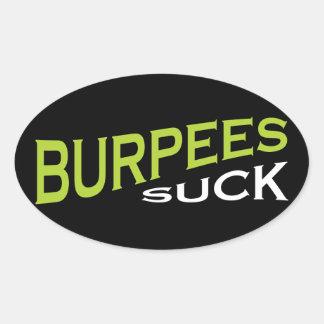 Burpees chupa - la inspiración divertida colcomanias ovaladas personalizadas