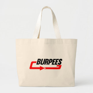 Burpees Exercise Large Tote Bag