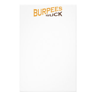 Burpees Suck - Funny Inspiration Stationery