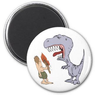 Burping Dinosaur 2 Inch Round Magnet