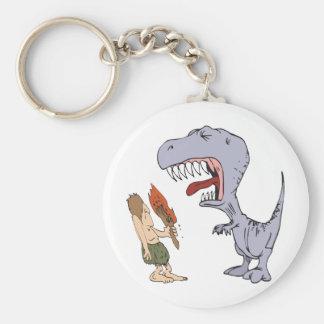 Burping Dinosaur Basic Round Button Keychain