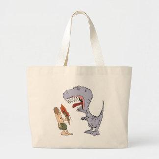 Burping Dinosaur Large Tote Bag