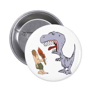 Burping Dinosaur Pinback Button