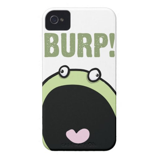 Burping Monster Funny iPhone 4 Cover