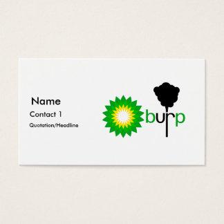 Burps de BP Tarjetas De Visita