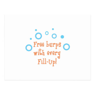 BURPS WITH FILL UPS POST CARD