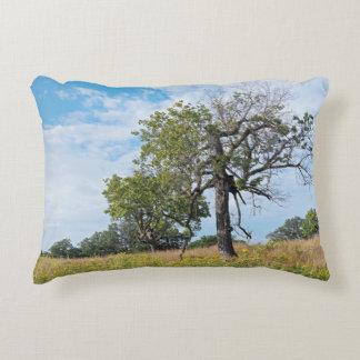 Burr Oak Trees and Prairie Decorative Pillow