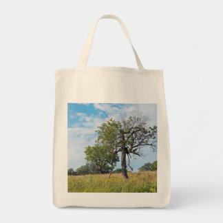 Burr Oak Trees and Prairie Tote Bag