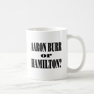 Burr or Hamilton? Classic White Coffee Mug