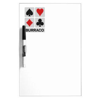 Burraco Player custom message board Dry-Erase Whiteboard