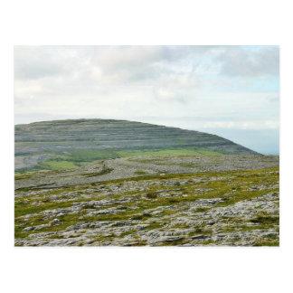 Burren Clouds Mountains Hills Postcard
