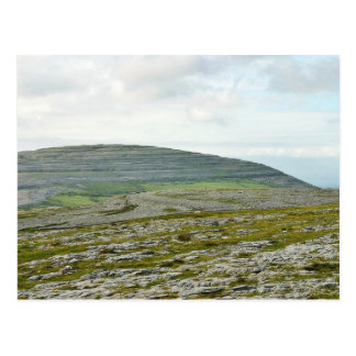 Burren se nubla las colinas de las montañas tarjeta postal