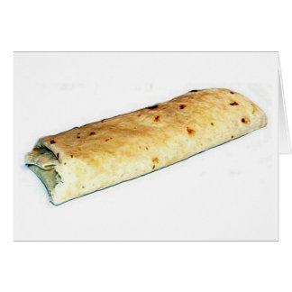 burrito 1 tarjeta de felicitación