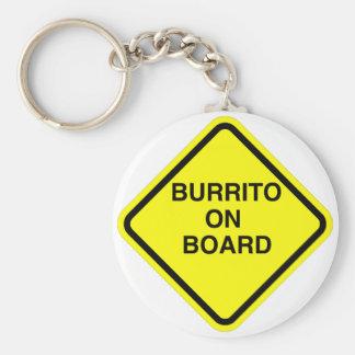 Burrito a bordo llavero redondo tipo pin