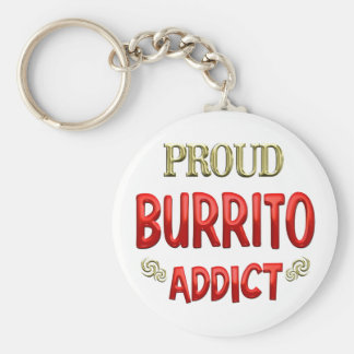 Burrito Addict Basic Round Button Keychain