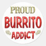 Burrito Addict Round Sticker