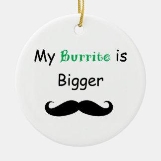 Burrito Adorno Navideño Redondo De Cerámica