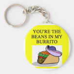 BURRITO and beans lover Basic Round Button Keychain