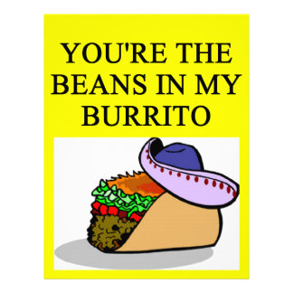 BURRITO and beans lover Customized Letterhead
