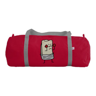 Burrito Boxer Fighter with Red Boxing Gloves Duffle Bag