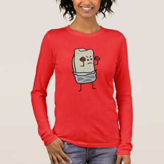 Burrito Boxer Fighter with Red Boxing Gloves Long Sleeve T-Shirt