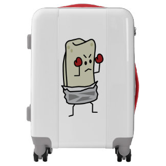 Burrito Boxer Fighter with Red Boxing Gloves Luggage