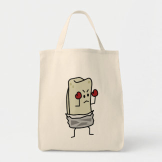 Burrito Boxer Fighter with Red Boxing Gloves Tote Bag