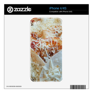 Burrito Cheese Funny Food Background iPhone 4S Decal