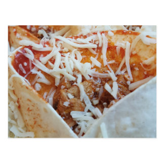 Burrito Cheese Funny Food Background Postcard