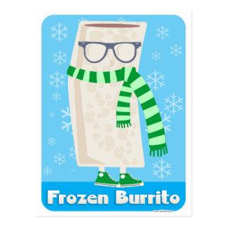 Burrito congelado tarjeta postal