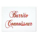 Burrito Connoisseur Custom Invitations