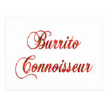 Burrito Connoisseur Postcard