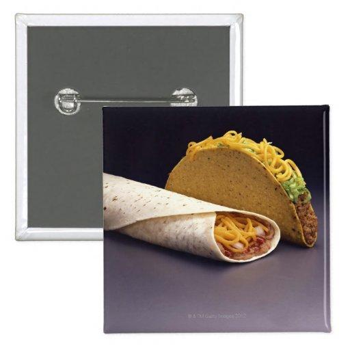 Burrito del Taco y de la haba Pins