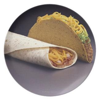 Burrito del Taco y de la haba Platos