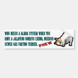 Burrito Eating Terrier Bumper Sticker. Car Bumper Sticker