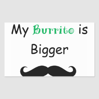 Burrito Pegatina Rectangular