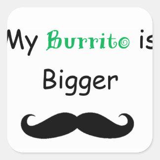 Burrito Pegatina Cuadrada